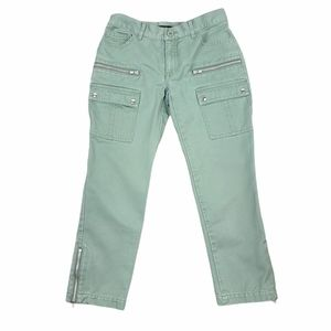 Marc Jacobs Cropped Green Cargo Pants Size 2